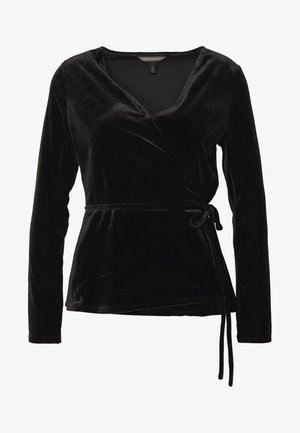 WRAP - Long sleeved top - black
