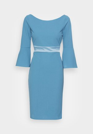 VINNIE FLARE SLEEVE MIDI DRESS - Žerzejové šaty - cornflour blue
