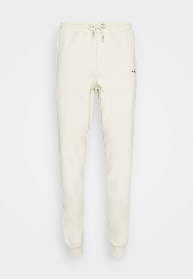 Pantalon de survêtement - ivory/black
