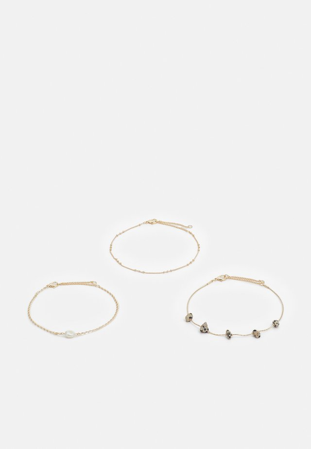 STATION CHIPPINGS ANKLET 3 PACK - Overige accessoires - gold-coloured