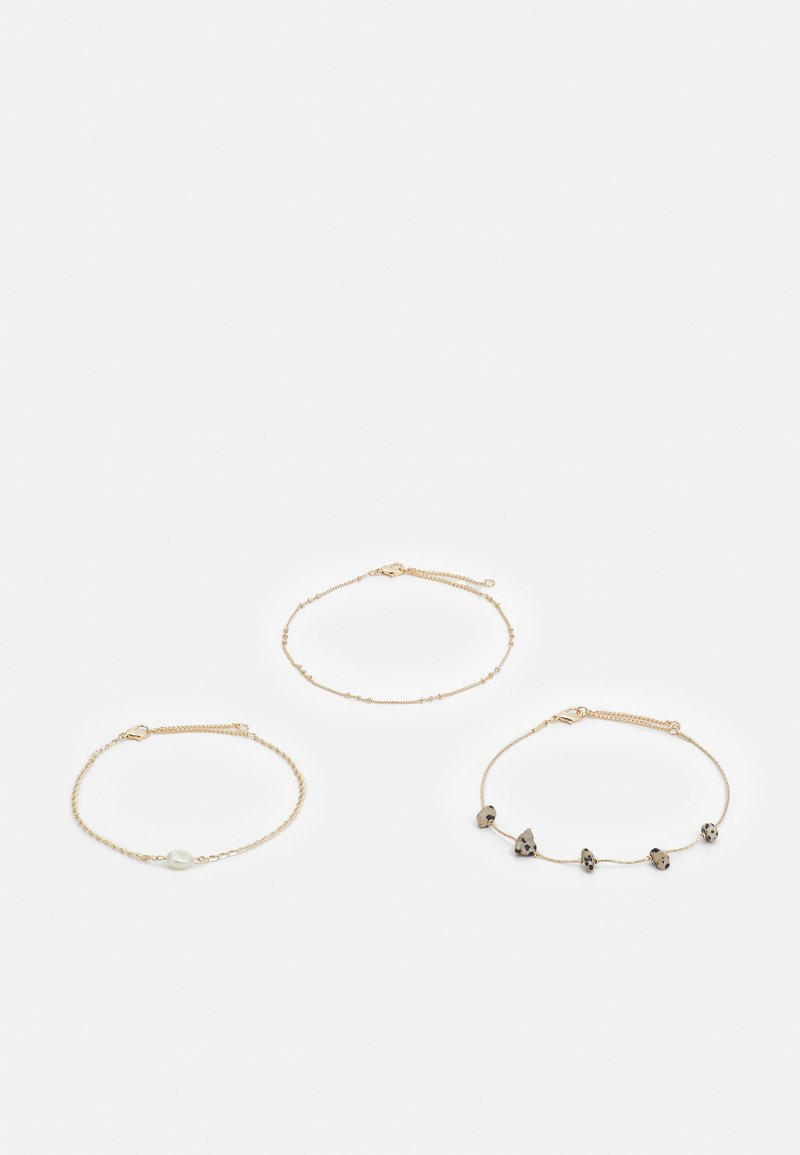 Topshop - STATION CHIPPINGS ANKLET 3 PACK - Other accessories - gold-coloured