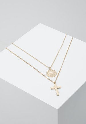 COIN & CROSS MULTI ROW 2 PACK  - Smykke - gold-coloured