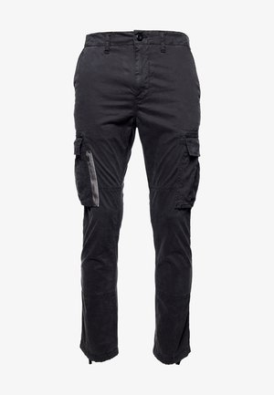 RECRUIT GRIP  - Cargo trousers - vulcan black