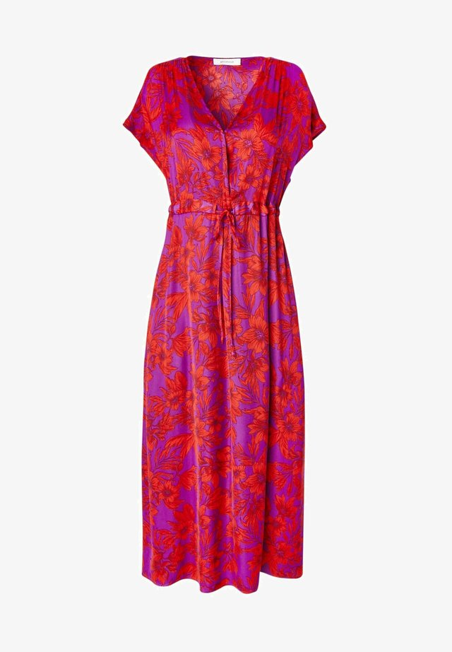 Robe longue - imprimé violet