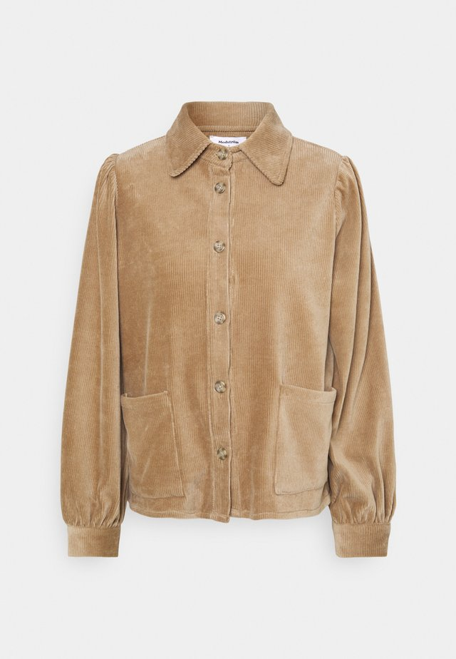 GINEVA - Button-down blouse - camel