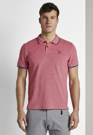 TWO-TONE TIPPING POLO - Polo - red
