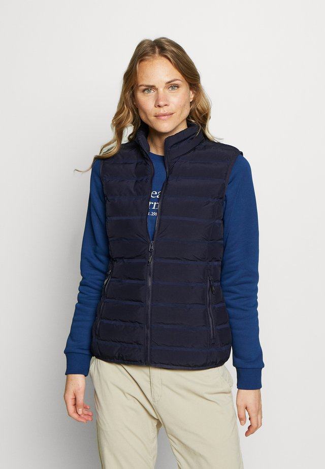 WOMAN GILET - Vesta - dark blue