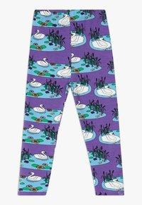 Småfolk - SWAN - Legging - purple heart - 1