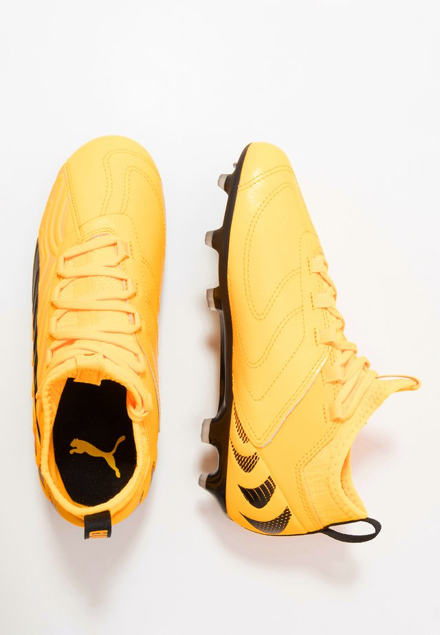 ONE 20.3 FG/AG - Moulded stud football boots - ultra yellow/black/orange alert