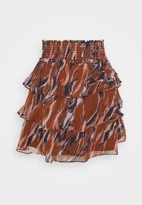 YAS - YASASTEA SKIRT - Mini skirt - brown - 4
