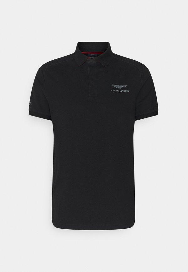 Hackett Aston Martin Racing AMR MOTO - Koszulka polo - black/czarny Odzież Męska ZHNP