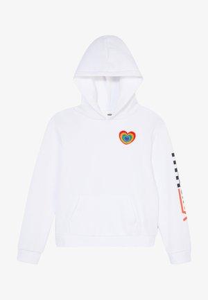 PLUSH HEART HOODIE - Jersey con capucha - white