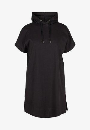 SHORT SLEEVES - Bluza z kapturem - black
