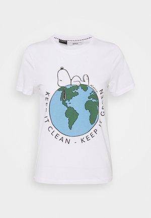 ONLPEANUT - Print T-shirt - white