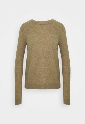 VMDOUCE FRENCH O NECK - Sweter - tobacco brown melange