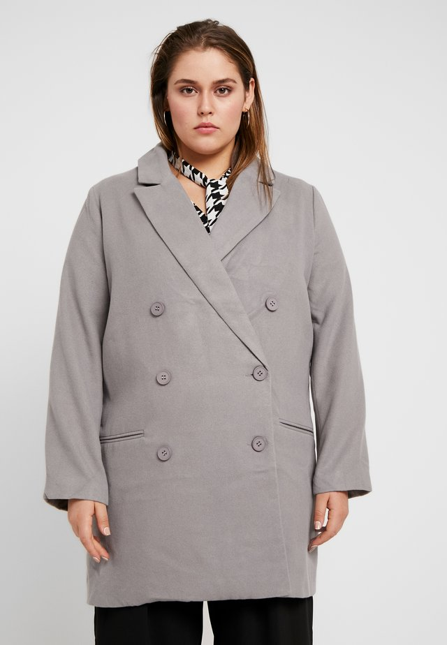 DOUBLE BREASTED FORMAL COAT - Mantel - grey