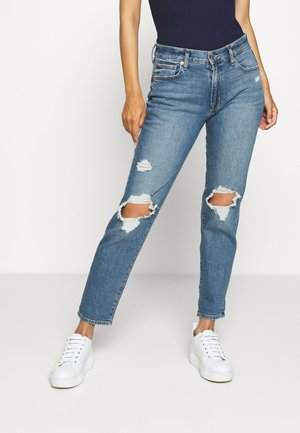 GIRLFRIEND MED TULIPAN DEST - Relaxed fit jeans - medium wash