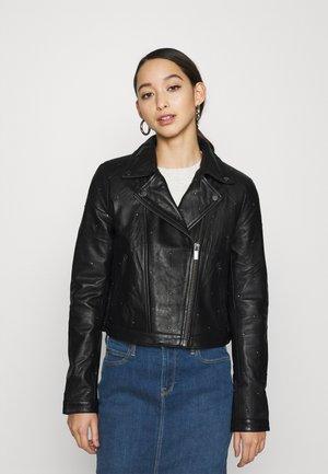 VIGORA BIKER JACKET - Leather jacket - black