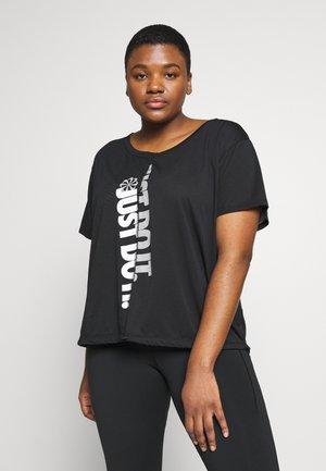 T-shirts print - black/white/silver