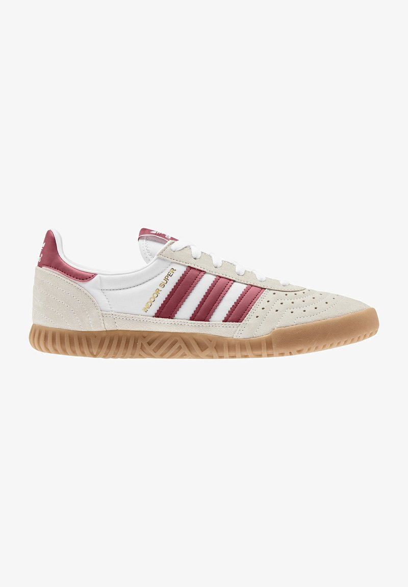 adidas Originals - INDOOR SUPER - Trainers - white/burgundy