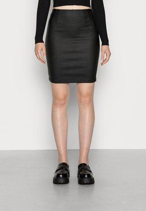 VIINES COMMIT SHORT COATED SKIRT - Mini skirt - black