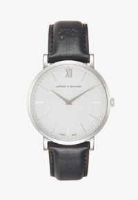 Larsson & Jennings - LUGANO SMOOTH ONE SIZE - Hodinky - silver-coloured/white/black - 1