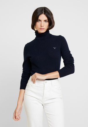 EXTRAFINE ROLLNECK - Jumper - marine