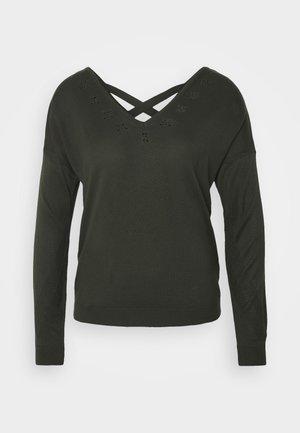 ONLADELE AJOUR VNECK - Pullover - rosin