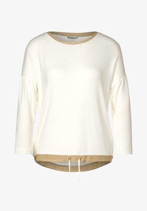 MIT GLITZER-DETAILS - Long sleeved top - weiß
