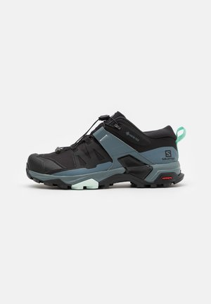 X ULTRA 4 GTX - Hiking shoes - black/stormy weather/opal blue