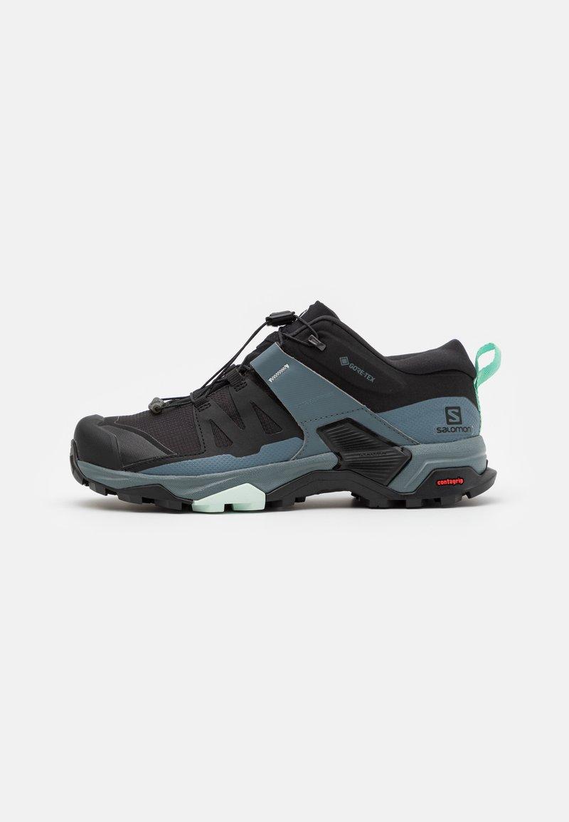 Salomon - X ULTRA 4 GTX - Hiking shoes - black/stormy weather/opal blue