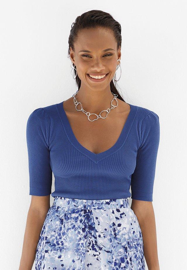 Basic T-shirt - saphirblau