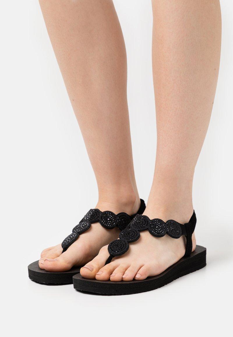 Skechers - MEDITATION - T-bar sandals - black