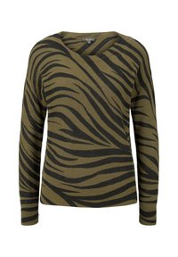 mine to five TOM TAILOR - IM ZEBR - Jumper - olive zebra design - 0