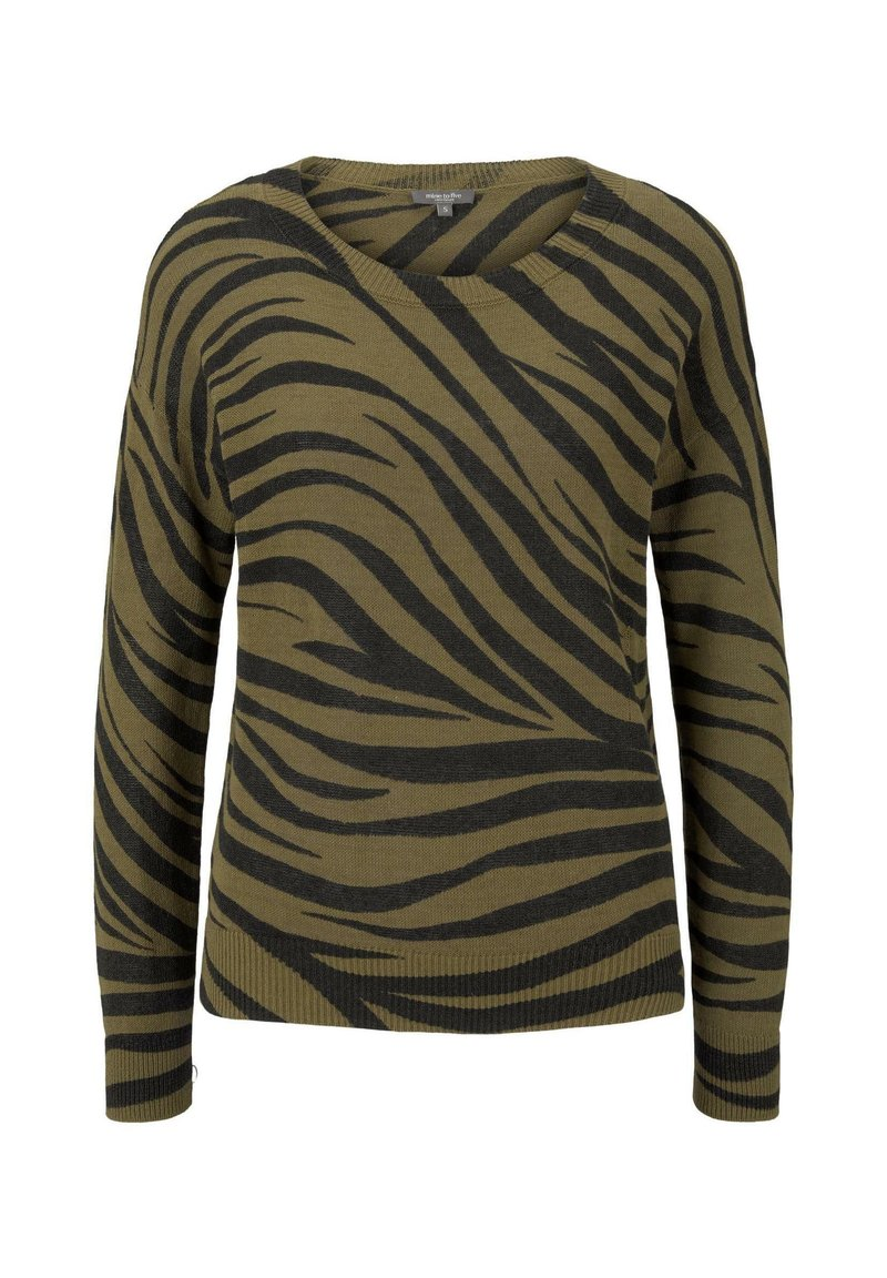 mine to five TOM TAILOR - IM ZEBR - Jumper - olive zebra design