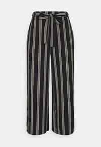 Pieces - PCKELLIE CULOTTE ANKLE PANT - Trousers - black - 0
