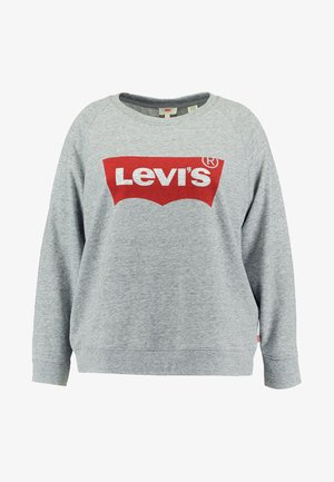 PL RELAXED GRAPHIC CREW - Felpa - plus fleece housemark smokestack htr