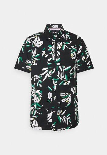 PATCHWORK FLORAL PRINT - Shirt - black/ivory/multi