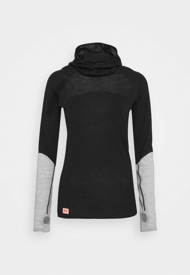 BELLA TECH FLEX HOOD - Camiseta interior - black