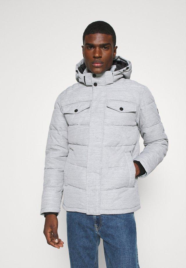 Winter jacket - light grey melange
