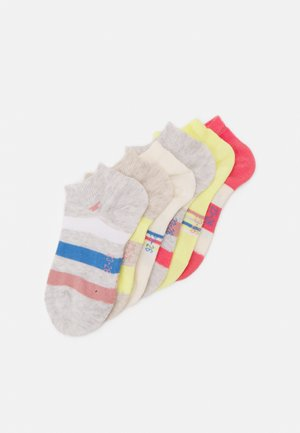 COLORFUL STRIPE SNEAKER 6 PACK - Socks - tea rose/yellow cream