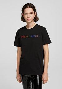 KARL LAGERFELD - T-shirt imprimé - black - 0