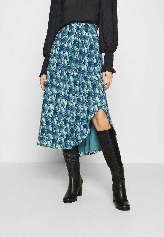 GEORGETTA SKIRT - A-line skirt - dusty blue/mint gree