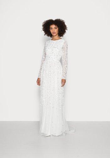 SCOOP BACK ALL OVER EMBELLISHED BRIDAL DRESS - Abito da sera - white