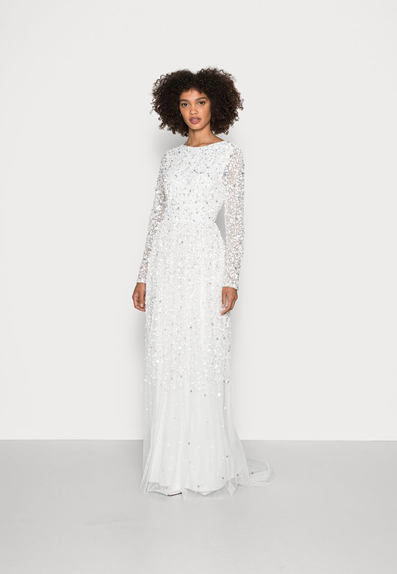 Maya Deluxe - SCOOP BACK ALL OVER EMBELLISHED BRIDAL DRESS - Occasion wear - white