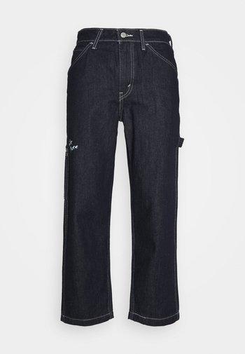 TAPER CARPENTER CROP - Straight leg jeans - dark indigo