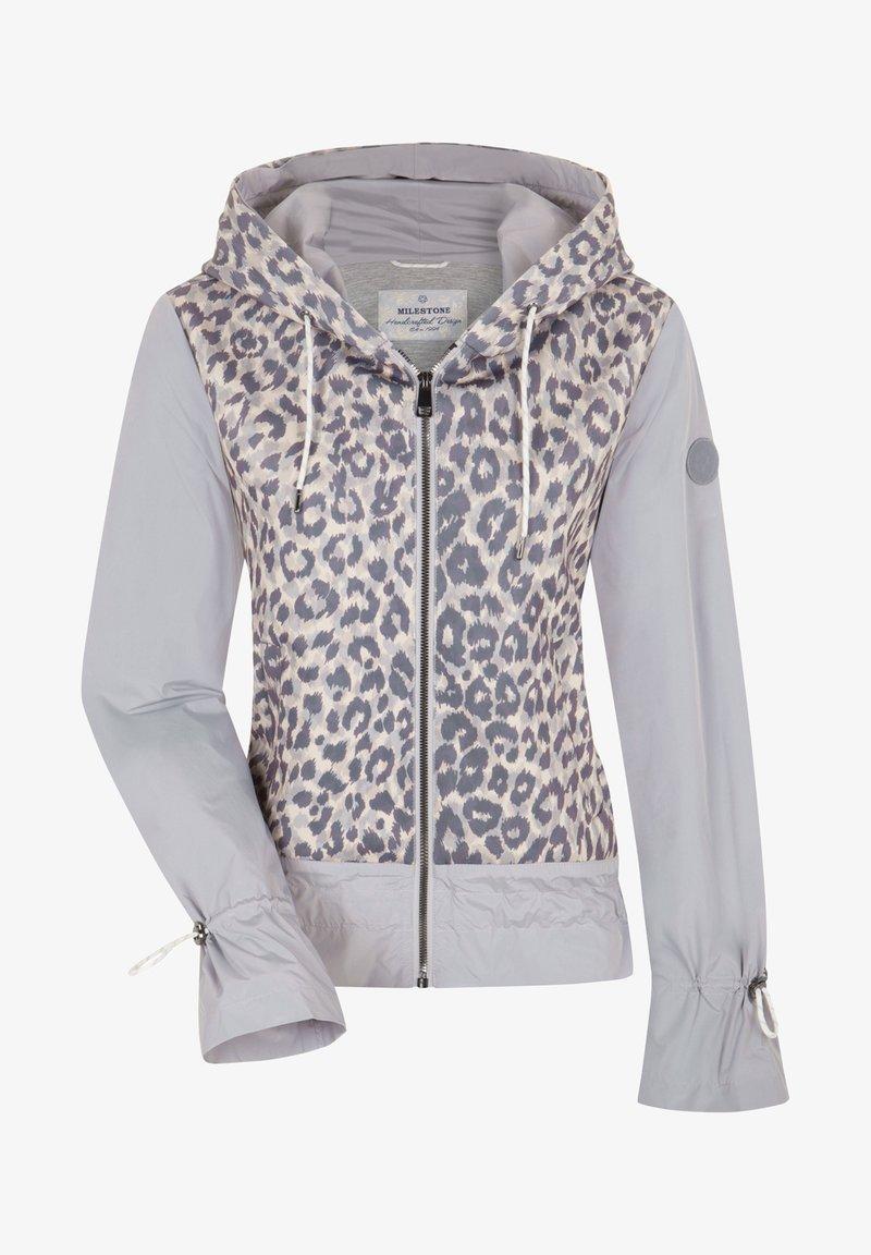 Milestone - Zip-up sweatshirt - taupe