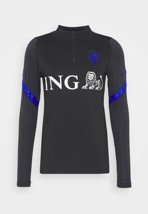 NIEDERLANDE DRY  - Top sdlouhým rukávem - black/bright blue