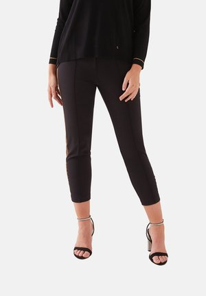 PANTALONI CON BORDI - Trousers - nero