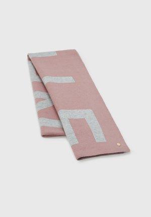 MAXI LOGO SCARF - Scarf - grey/powder pink